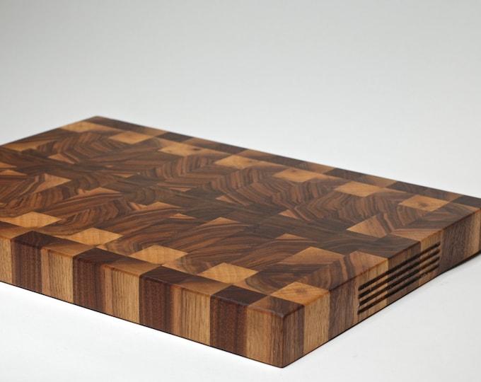 End Grain Cutting Board -  Walnut