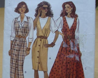 Free shipping! Butterick 6782 women's jumper dress sewing pattern 12 14 16 UNCUT