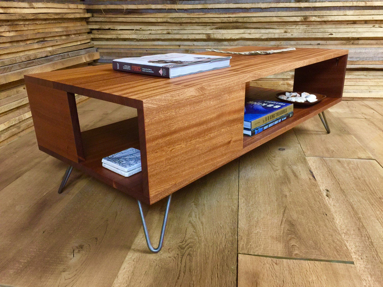 Wood Modern Coffee Table Modern Coffee Table Etsy