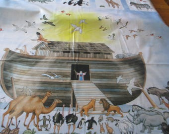 Quilting Weight Cotton Large Noah's Ark Panel designed by Jay Zinn for Northcott
