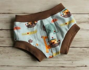 Jungle Animal Shorts, Elephant Shorts, Bummies, Kid Shorts, Toddler Shorts, Bubble Shorts, Diaper Cover, Shorties, Alligator shorts