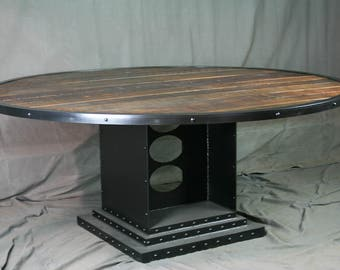 industrial desk with drawers. modern industrial table. steel
