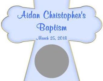 Unique Personalized CROSS Baptism, Christening, Party Scratch Off Lotto Game Card, shape of the graphic