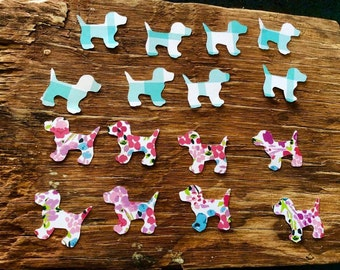 Cute little puppy die cuts cut outs punch outs
