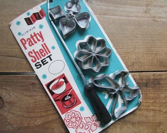 Patty Shell Set Fried  Cookie Maker Vintage