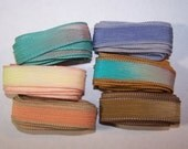Discontinued/Experimental Ribbons/ Sassy Silks Hand Painted/Dyed Ribbons  Lot 100-0696