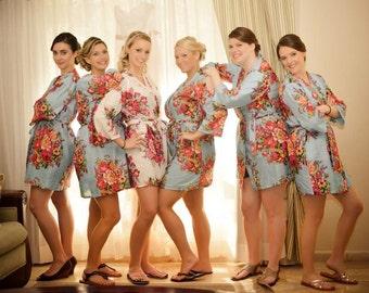 Bridesmaids Robe Set of 3,4,5,6,7,8,9,10,11 Bridesmaid Gift, Wedding Robes Bridesmaids, bridemaids Gift, , Bridal Party favours