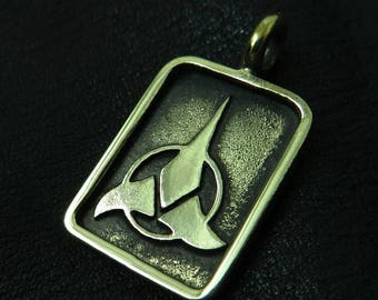 Bronzeanhänger Klingon