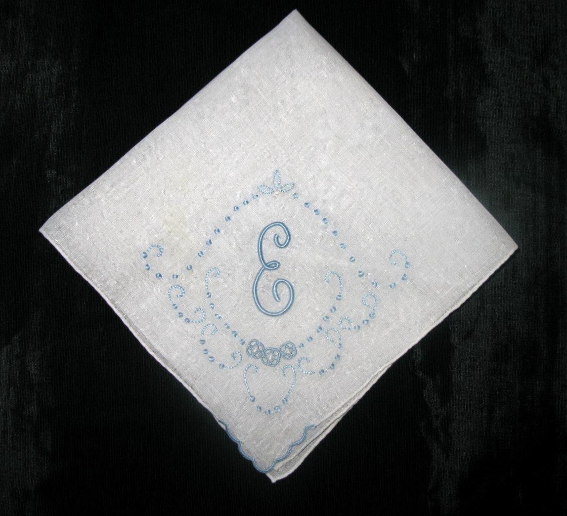 Antique Monogrammed Wedding Handkerchief By Greenleafvintage1
