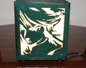 Legend of Zelda Lasercut Wooden Electric Box Lamp
