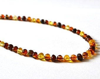 Natural Amber Necklace Baltic Amber Jewelry Summer Gift For Her