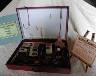 French Vintage, Antique Toys , Childrens Toys , Watercolour Set , French Toys, Old Paintboxes , Old Paints , 19th Century Box Of Paints ,