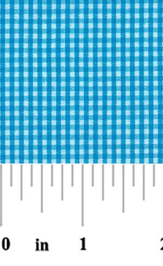 High Quality Fabric Finders Turquoise Gingham