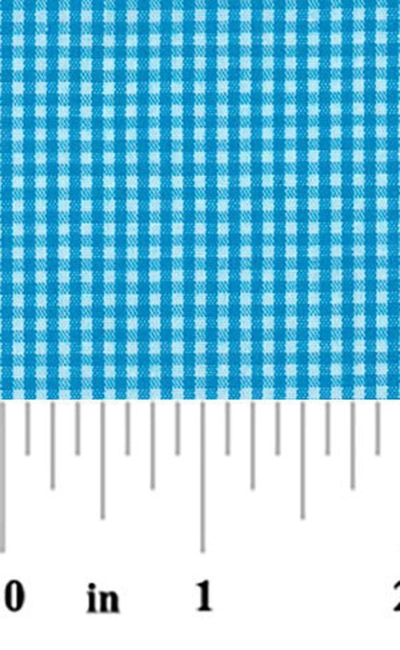High Quality Fabric Finders Turquoise Gingham. Perfect for Sewing, Quilting and Crafts!