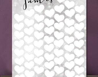 Script Wedding alternative guest book A2