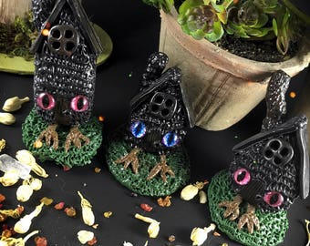 Mini Baba Yagas house /// Fairy garden fairies witch witchcraft folklore witches tiny little clay
