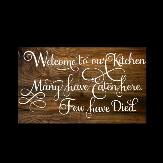 Personalised Kitchen Signs: Welcome To Our Kitchen Wood Sign Custom Wood Sign Kitchen