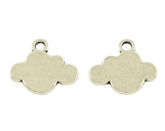 Cloud Charms Silver Cloud Charms Silver Charms Stamping Blanks Metal Stamping Hand Stamping Silver Blanks Weather Charms 50 pieces