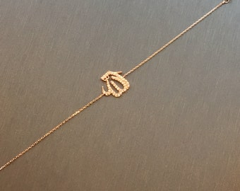 Medium Pave Allah Bracelet-Silver