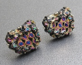 Nugget Lava Rock Cufflinks Vintage Mens Jewelry AB H869