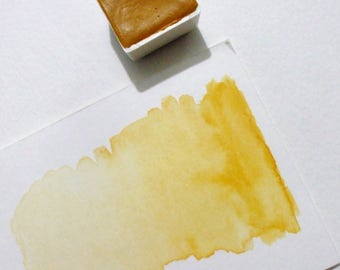 Lemon Yellow Ochre - Handmade Watercolor Paint