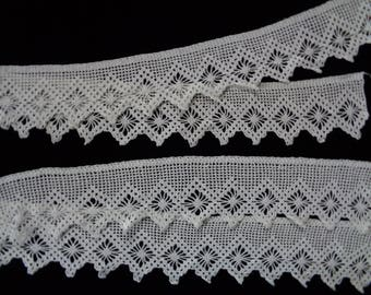 Vintage Crocheted Trim Pillow Case Edging Sections Wide