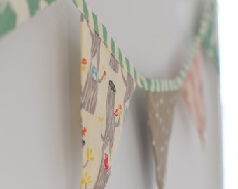 Organic Baby Bunting in Woodland Pink