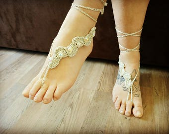 Sparkly barefoot sandals - Gold, silver, black, red wedding barefoot sandals, Beach wedding barefoot sandals, wedding boots, lace shoes