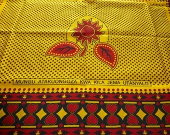 African Kanga Khanga Sarong/Fabrics For Dresses & Craft making/Cotton Fabrics/Traditional African wear/ Kanga Nzito