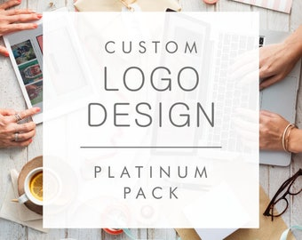 Custom Logo Design (Platinum Pack - 4 concepts) - Professional branding for your business - Custom and one of a kind