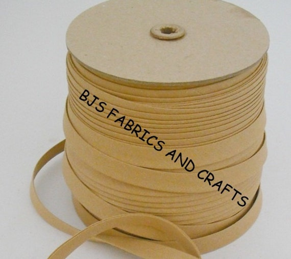 """TAN Extra Wide Double Fold 1/2"""" Bias Tape Wholesale 50"""
