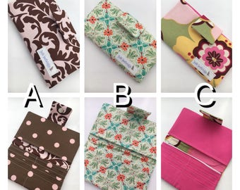 YOU PICK -- Handmade Women's Fabric Wallet -- Handmade Fabric Wallet -- Women's Wallet -- Wallet -- Billfold -- Handmade