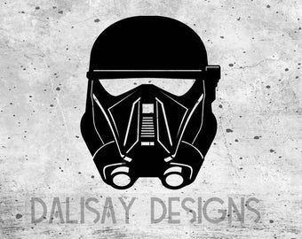 Death Trooper Helmet Vinyl Decal