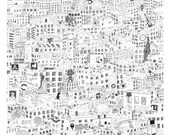 Video Game City (PRINT) How many Video Games can you find? (50cmx50cm)