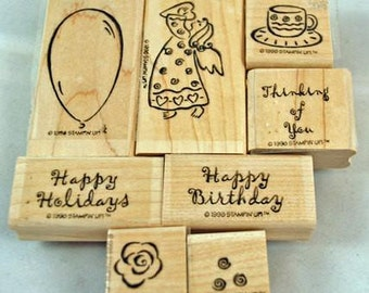 Retired Stampin Up Stamp Set Rubber Stamps Contemporary Collection