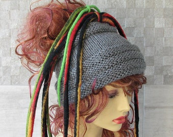 Lovely dreadlock headband knitted headwrap tube hat Dreads accessories