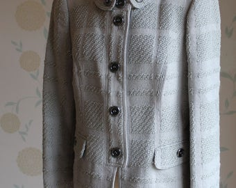 BURBERRY London Silver Grey Jacket UK SIZE 10 Beautiful and unique