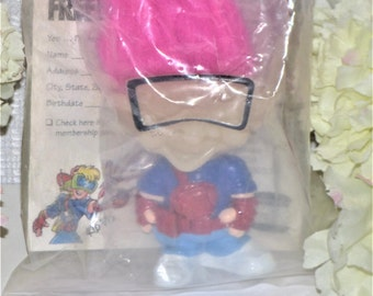 1993 Burger King Glow in the Dark Troll Toy/ pink hair
