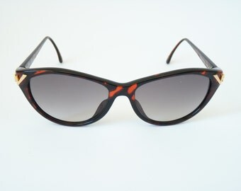 Paloma Picasso cateye vintage sunglasses - 1990s made in Germany black and red frames