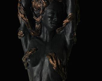Mermaid Votive Candle Holder/ Mermaid Wall Art/ Mermaid Candle Sconce, Exotic Mermaid
