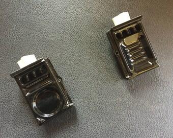 3 Piece Black Vintage Tile Shelf & Toilet Paper Dispenser