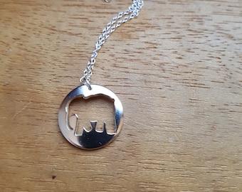 Elephant Necklace, Elephant Pendant, Elephant Jewelry, Gift For Her, Elephant gift, Elephant, Silver elephant, Animal necklace, Necklace