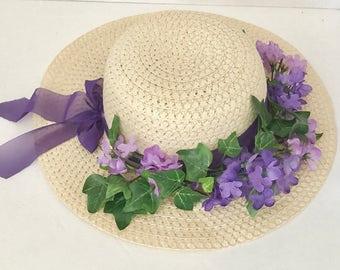 EASTER  HAT, Derby Hat, Sun Hat, Wedding Hat, Tea Party Hat