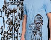 BLUE, XL- Sloths Furnace T-Shirt