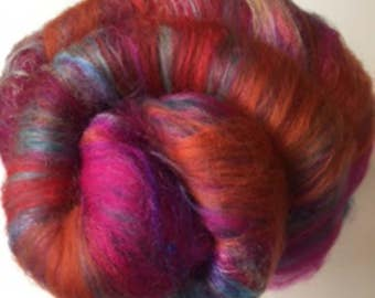 Carded Fibre Batt for Spinning and Felting/Art Batt/Spinning Fibre Colour Riot 2