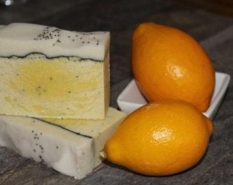 Lemon Poppy Seed Goat Milk Soap