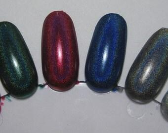 Winter Holodays Cool Holographic Nail Lacquer Set Six Indie Mini 5mL Starlight Polish