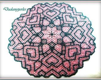 pattern bead weaving doily love