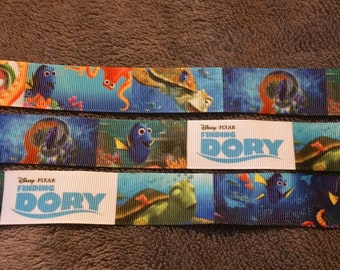 Finding Dory inspire ribbon. Finding Nemo ribbon. Fish ribbon. Destiny ribbon. Hank ribbon. Nemo ribbon. Dory ribbon. Disney inspired ribbon