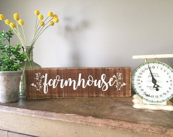 Farmhouse sign, farmhouse decor, rustic decor.